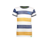 jongens T-shirt panel stripe mustard