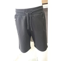 short fleece slim fit black