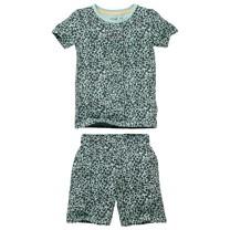 jongens pyjama Pim aop green leopard