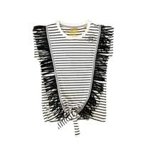 top Colette fringes stripe black