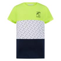 jongens T-shirt Floris neon yellow