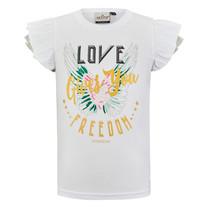 meisjes T-shirt Anais white