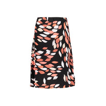 rok Tess print leaves black