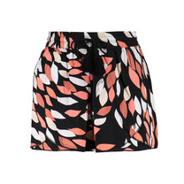 short Tess print leaves black