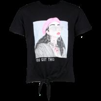 meisjes T-shirt Lebella black