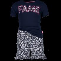 meisjes pyjama wild flower heart dark blue
