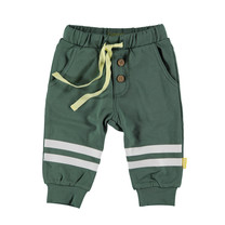 jongens broek knee stripes green