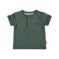 jongens T-shirt Henley green
