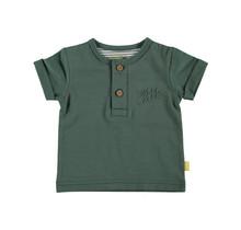 Bess jongens T-shirt Henley green