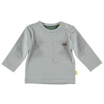 jongens longsleeve striped pocket white