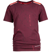 T-shirt Hafit maroon red - Daley Blind