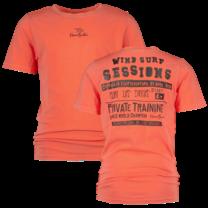 jongens T-shirt Hawaiki beach red - Kiran