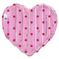 Roze hart met glitter luchtbed