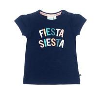 T-shirt Fiesta Siesta marine - Botanic blush