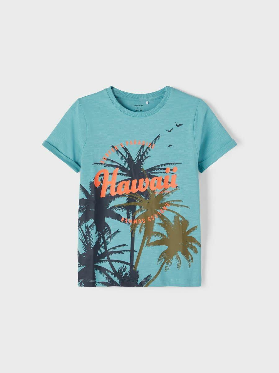 jongens T-shirt Johan aqua