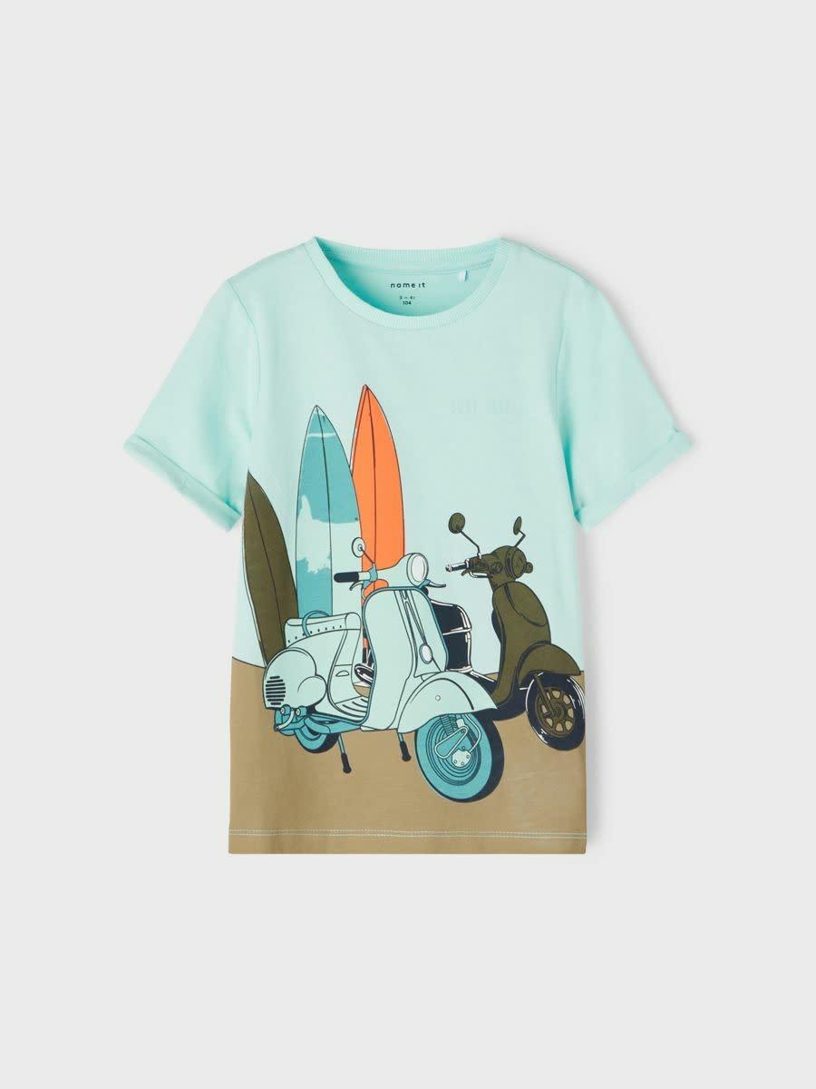jongens T-shirt Johan blue tint
