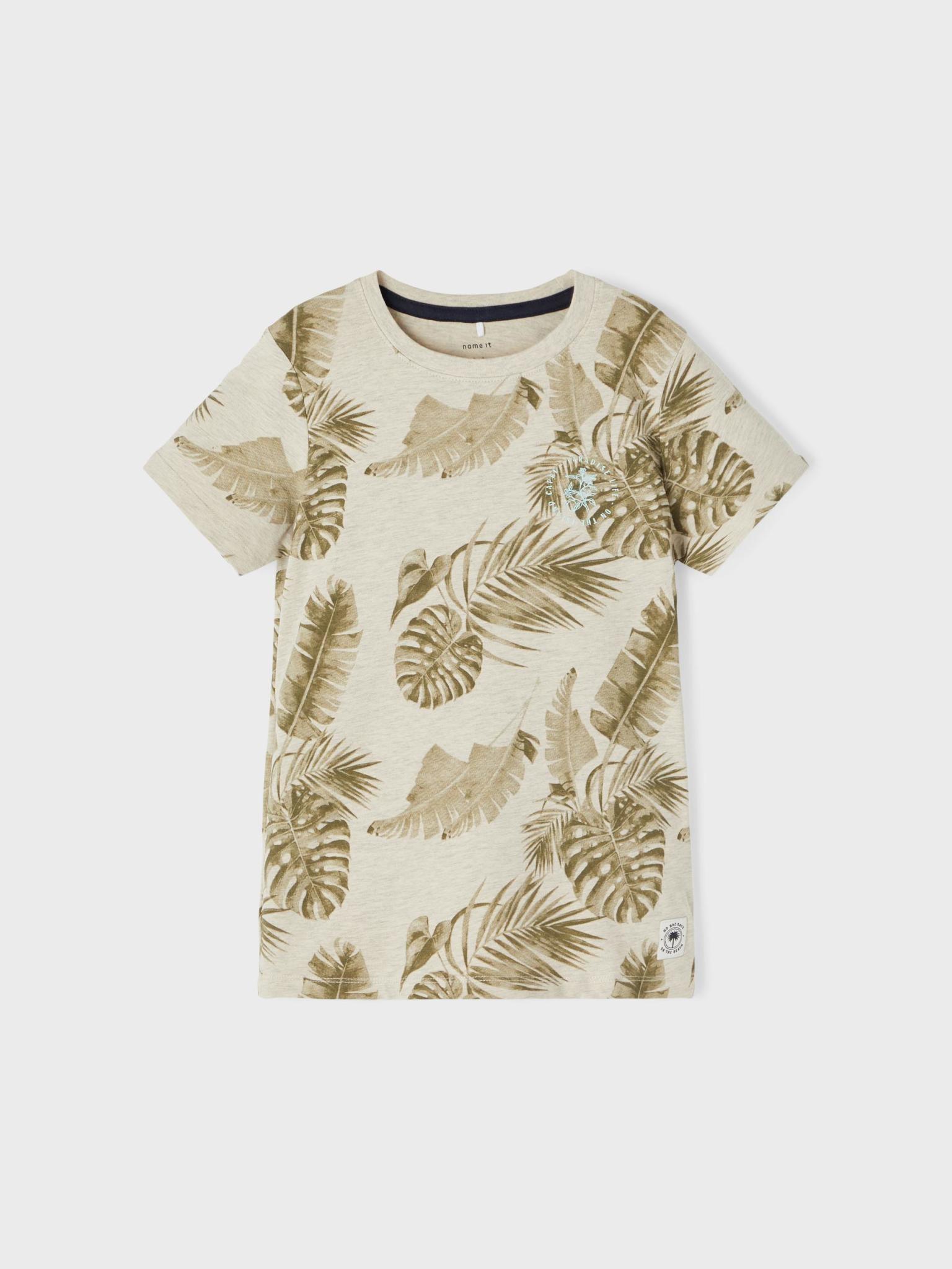 jongens T-shirt Hachem peyote melange