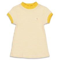 wafel nachthemd okergeel
