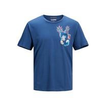 T-shirt Tropicana pocket ensign blue