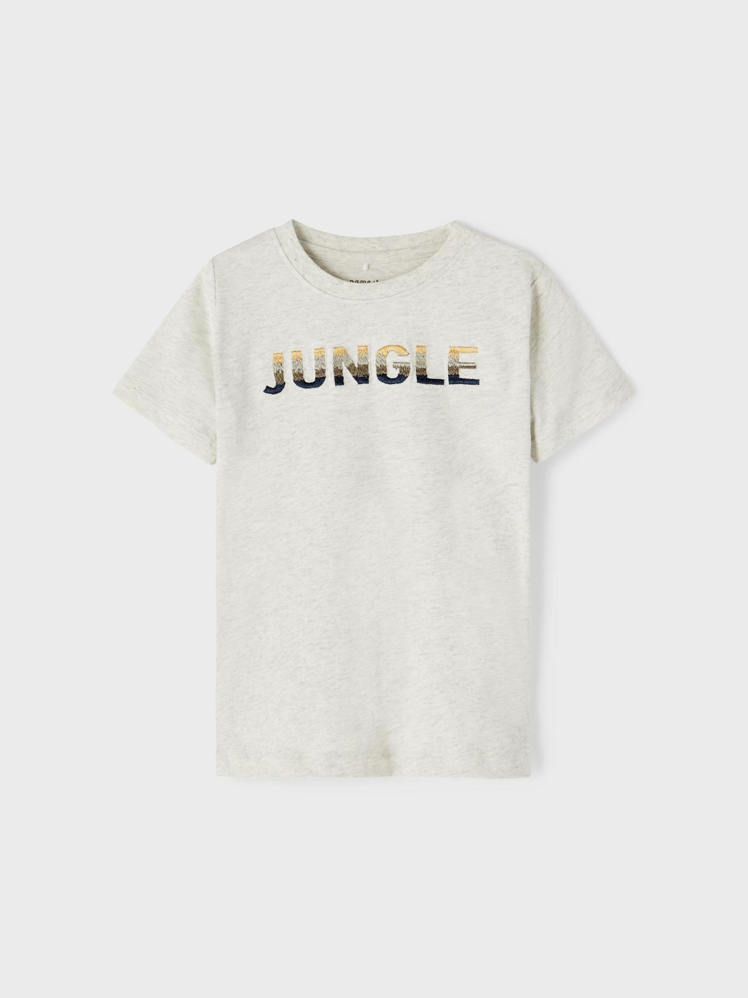 jongens T-shirt Jachad light grey melange