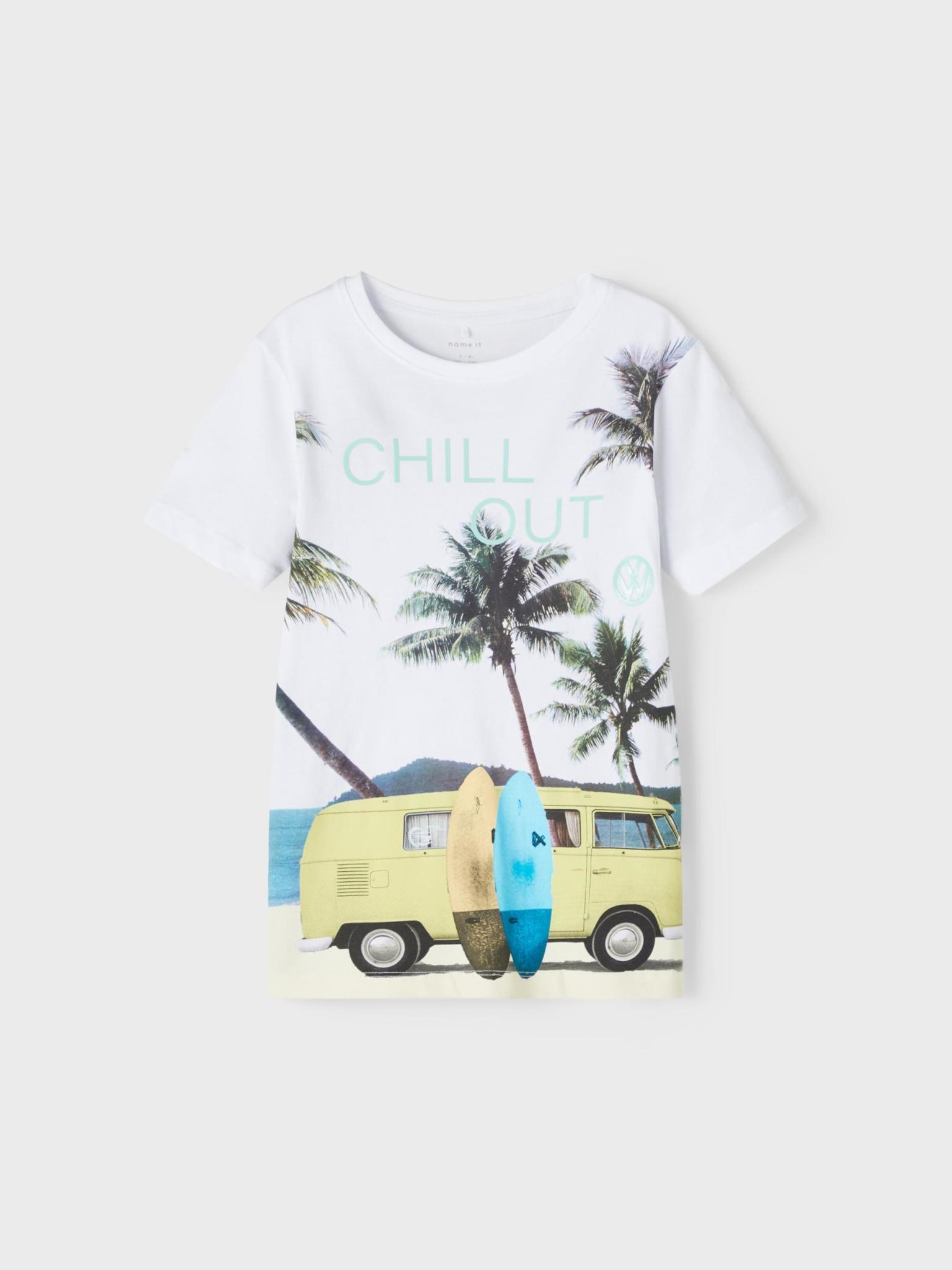 jongens T-shirt Tomas bright white