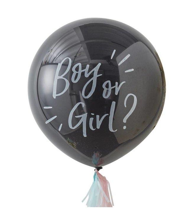 Ginger Ray Gender Reveal Ballon - Boy or Girl?