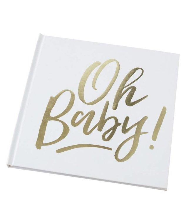 Betere Oh baby gastenboek - Feestdeco JV-75