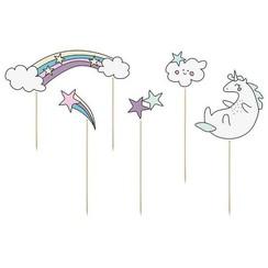 Taarttopper unicorn - regenboog