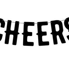 Letterslinger Cheers | Zwart