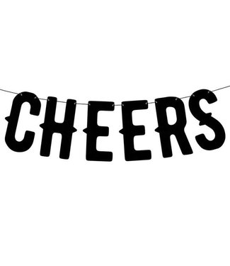 PartyDeco Letterslinger Cheers   Zwart