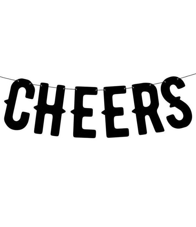 PartyDeco Letterslinger Cheers | Zwart