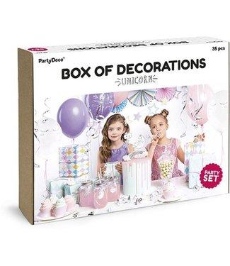 PartyDeco Unicorn kinderfeestje pakket
