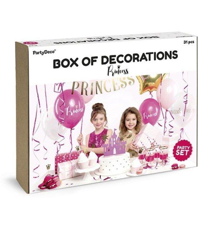 PartyDeco Feestpakket prinses kinderfeestje