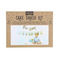 Cakesmashpakket blauw - eerste verjaardag