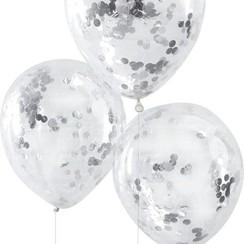 Confettiballonnen zilver
