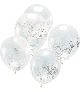 Ginger Ray Ballonnen glitter zilver