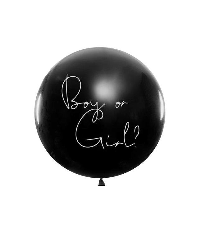 PartyDeco Gender Reveal ballon - Boy or girl? - meisje