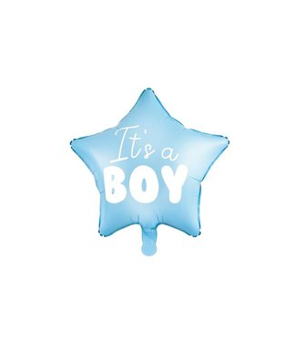 PartyDeco Hartenballon It's a boy - jongen