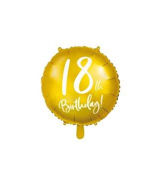 PartyDeco Folieballon 18th birthday | 18 jaar