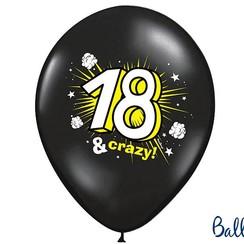 Ballonnen 18 & Crazy - 6 stuks