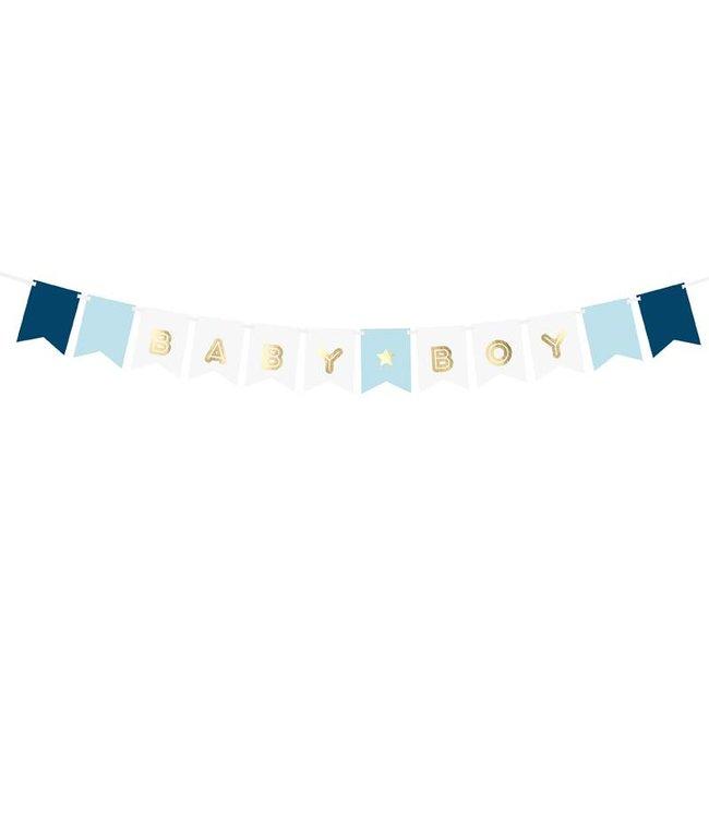 PartyDeco Babyboy slinger - blauw