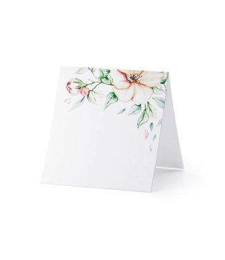 PartyDeco Plaatsnaam kaartjes 'Floral' | 10 stuks