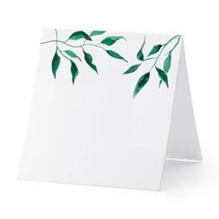 Plaatsnaam kaartjes 'Watercolour Leaves' 10 stuks