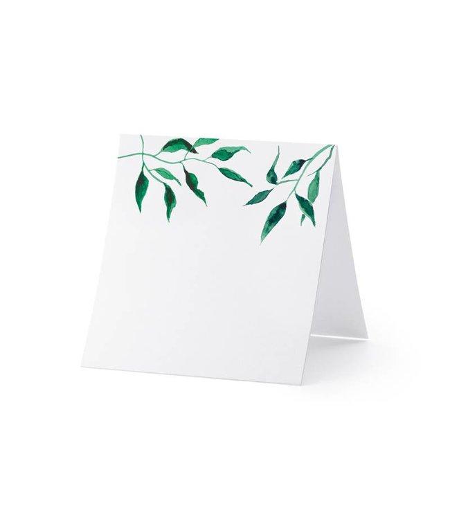 PartyDeco Plaatsnaam kaartjes 'Watercolour Leaves' 10 stuks