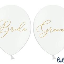 Ballonnen Bride - Groom wit