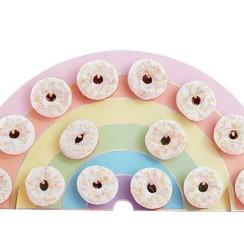 Donutwall Regenboog | voor 14 donuts