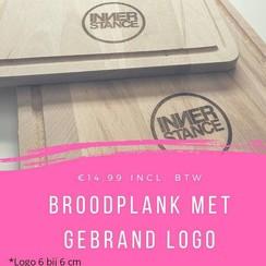 Broodplank met gegraveerd logo