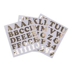 Alfabetstickers goud XL