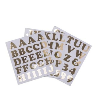 Feestdeco Alfabetstickers goud XL