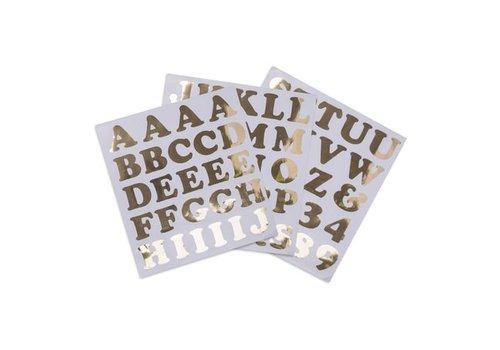Arty Fetes Alfabetstickers goud XL